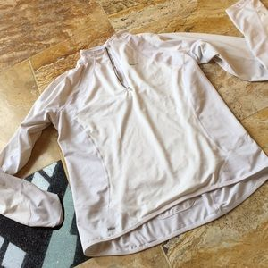"Nike white sport jacket/back zipper pocket/19""bust"